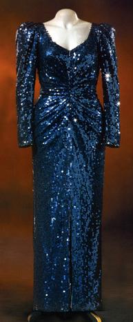 Diana's blue dress