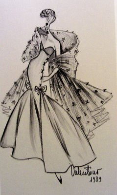 valentino garavani sketches � lessons from a professional