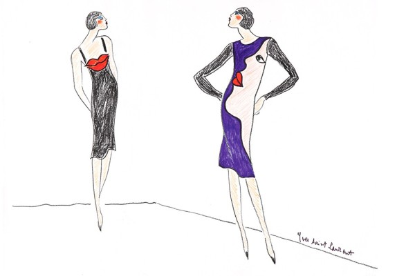 Yves Saint Laurent Sketch