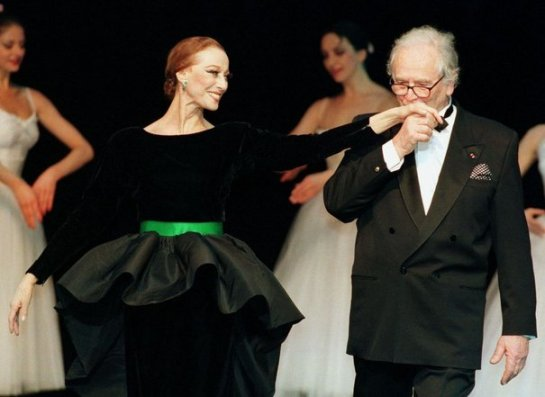 Pierre Cardin and Maya Plisetskaya